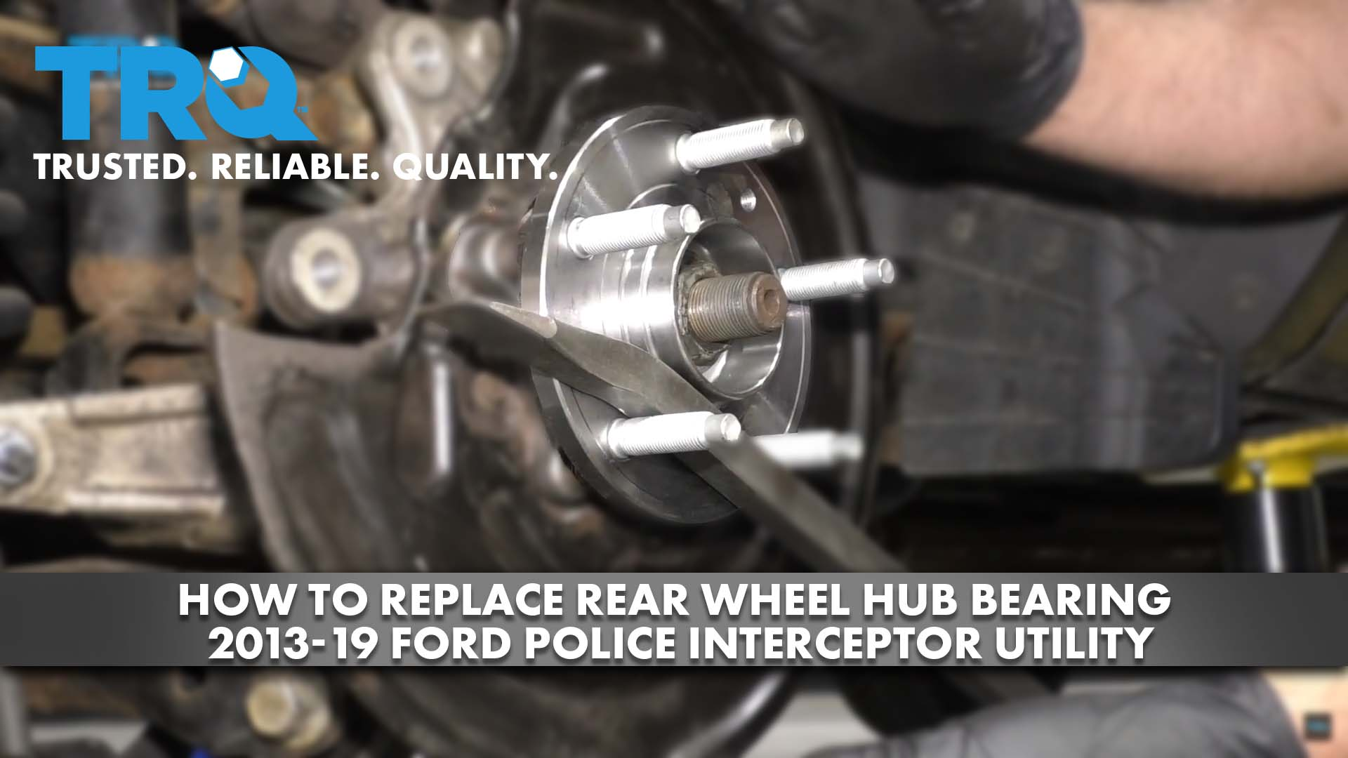 How to Replace Rear Wheel Hub Bearing 2013-19 Ford Police Interceptor Utility
