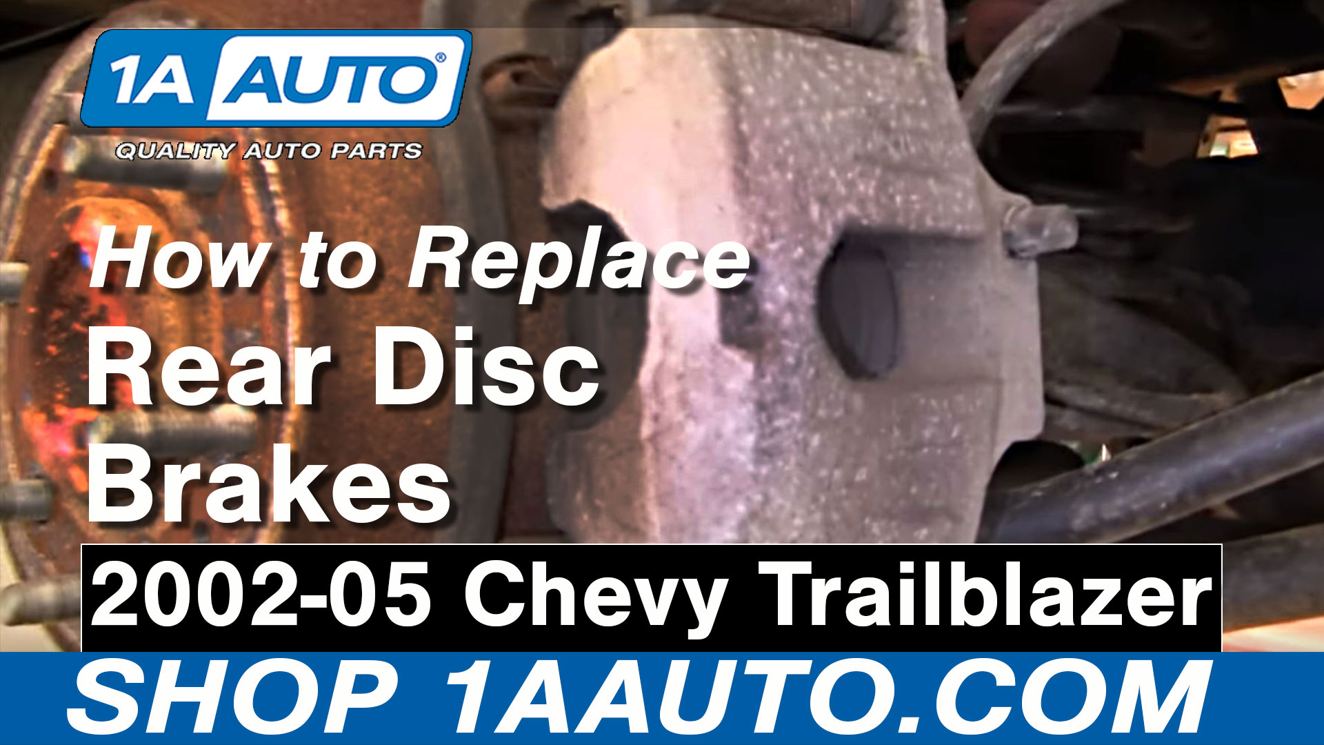 How to Replace Rear Brakes 02-05 Chevy Trailblazer