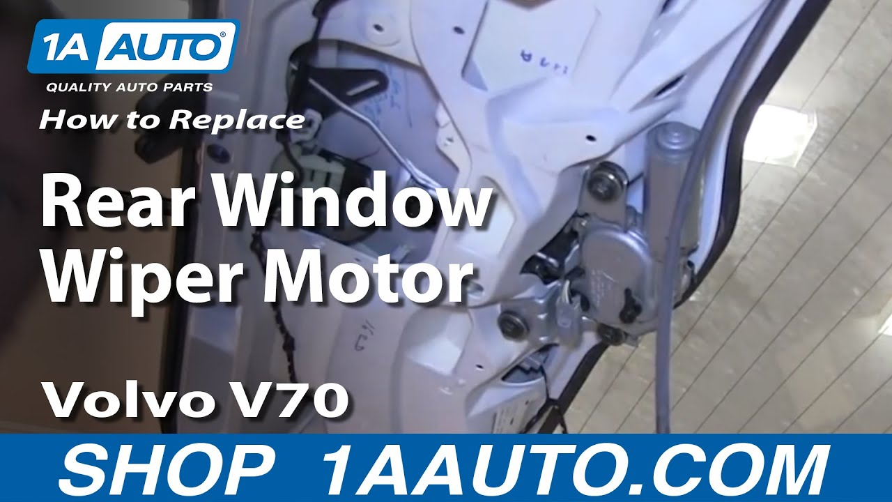 How To Replace Rear Wiper Motor 00-07 Volvo V70