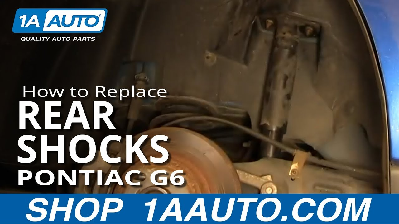 How to Replace Rear Shocks 05-10 Pontiac G6