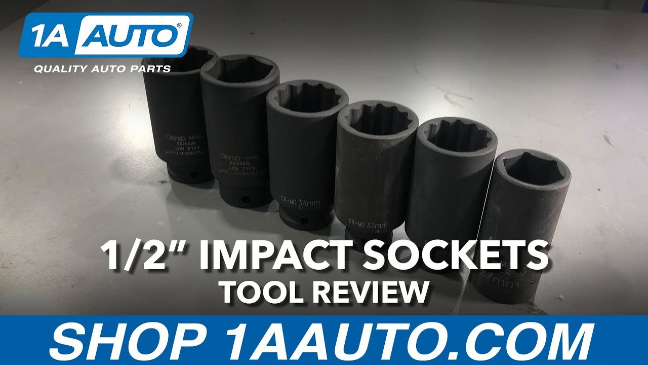 1/2 Inch Impact Sockets - Available on 1aauto.com