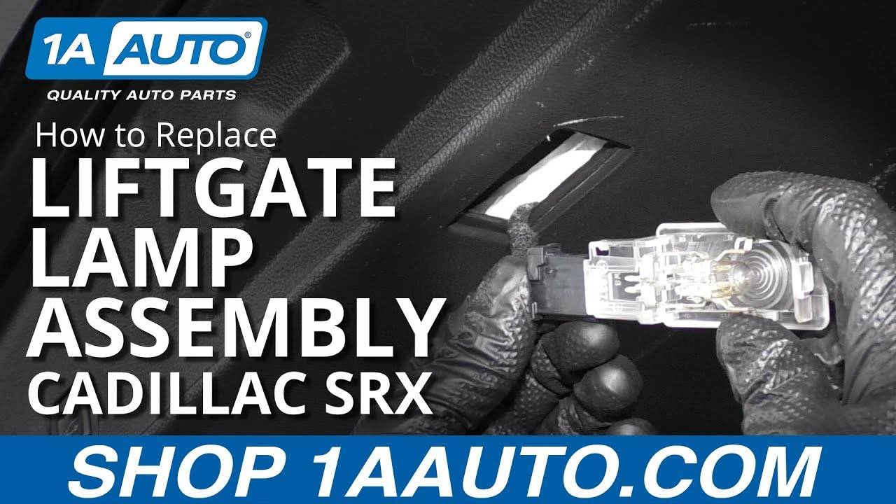 How to Replace Liftgate Lamp Assembly 10-16 Cadillac SRX