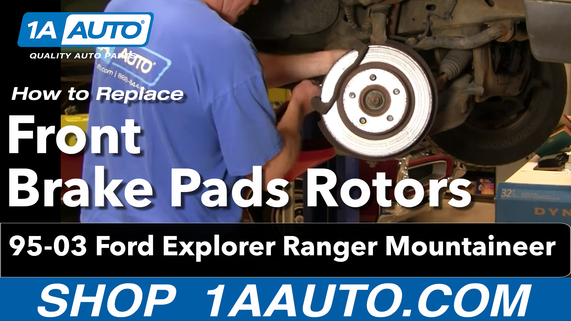 How To Replace Front Brakes 95 03 Ford Explorer 1a Auto