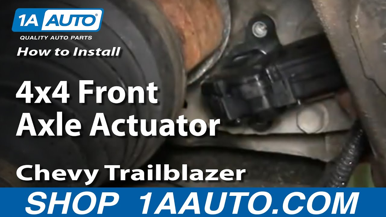 How To Replace Front Axle Actuator 02-06 Chevy Trailblazer