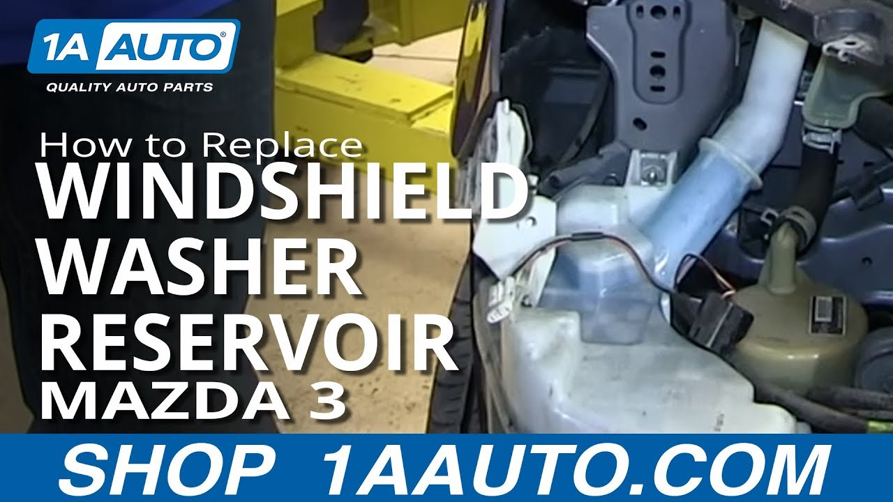 How To Replace Windshield Washer Reservoir 04-09 Mazda 3