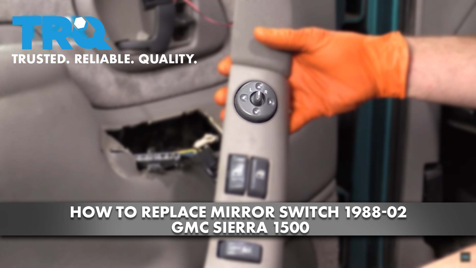 How to Replace Mirror Switch 1988-02 GMC Sierra 1500