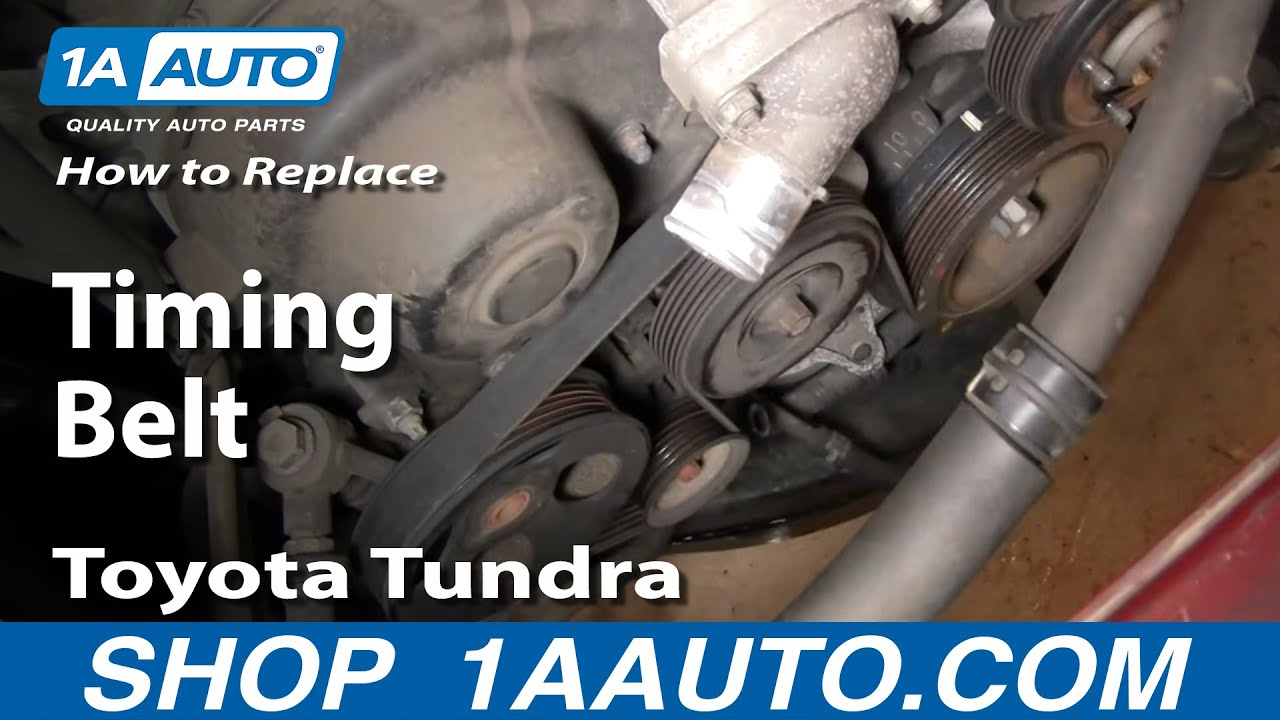 How To Replace Toyota Tundra Timing Belt 2002 V8 Disassemble Front of Engine PART 2 1AAuto.com