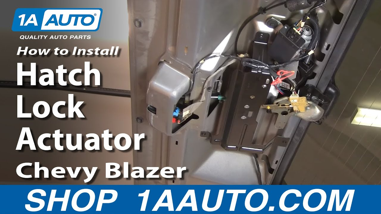 How to Replace Tailgate Lock Actuator 95-05 Chevy Blazer S10