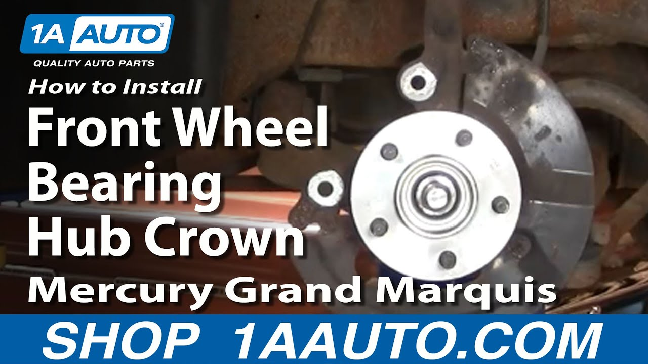 How to Replace Wheel Bearing & Hub Assembly 97-02 Mercury Grand Marquis