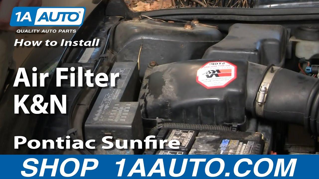 How To Install K&N Air Filter 95-05 Pontiac Sunfire