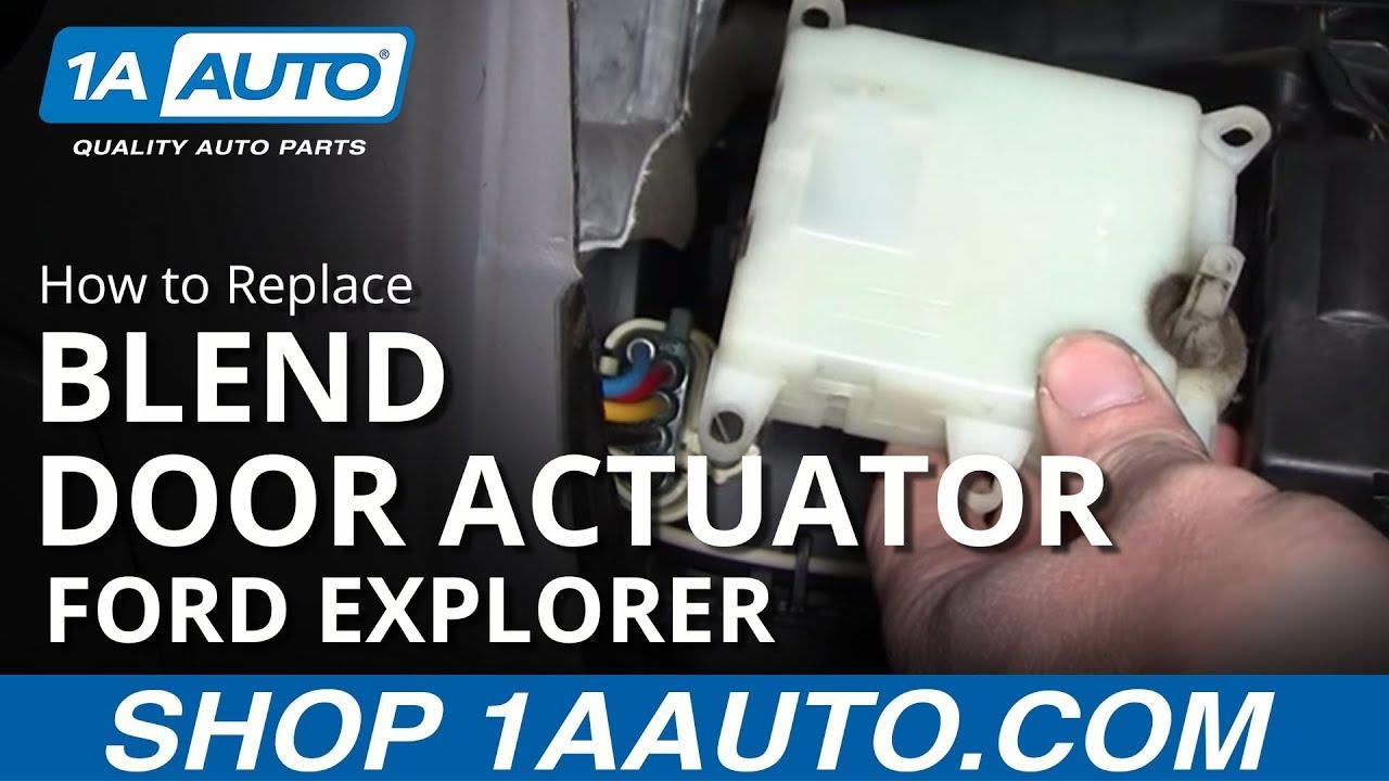 How to Replace Temperature Blend Door Actuator 95-02 Ford Explorer