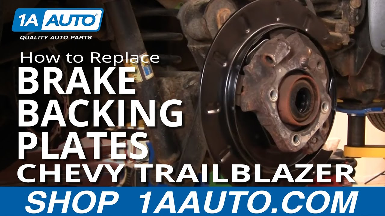 How to Replace Rear Brake Backing Plates 02-09 Chevy Trailblazer