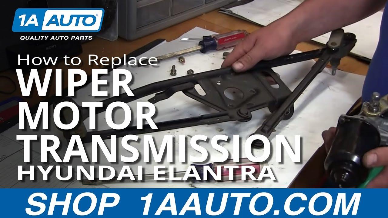 How to Replace Wiper Motor Transmission 01-06 Hyundai Elantra