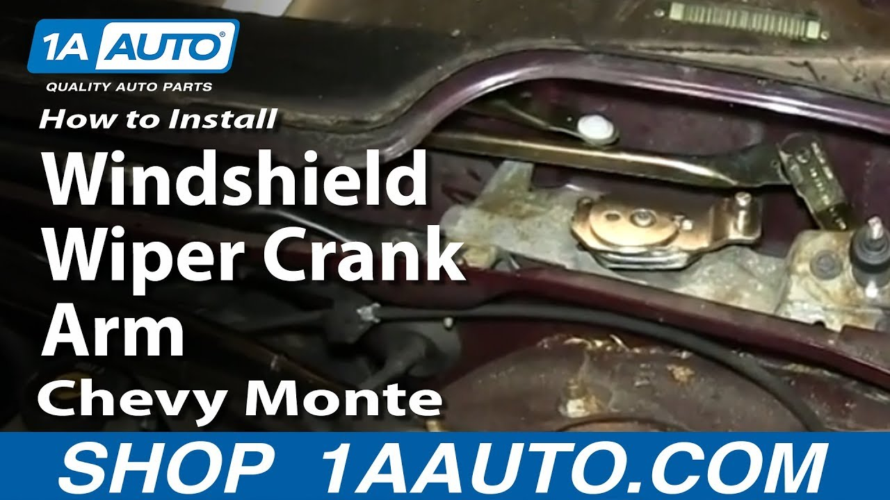 How to Replace Wiper Transmission Crank Arm 00-05 Chevy Monte Carlo