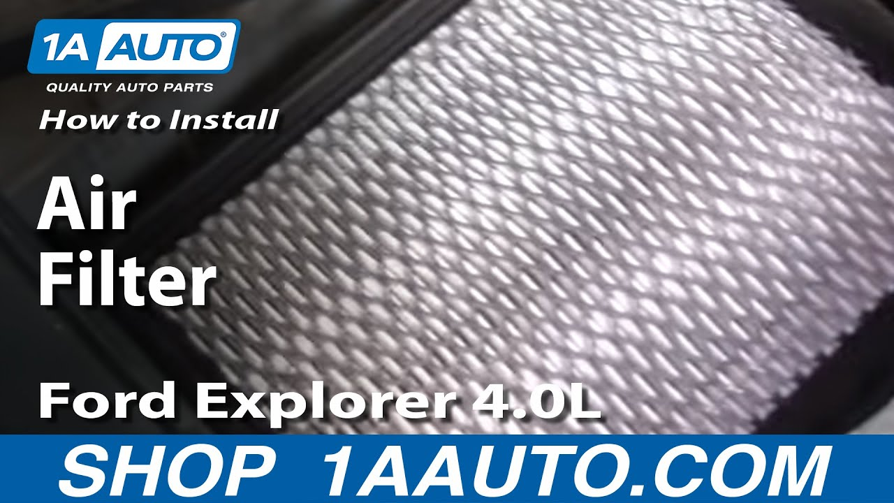 How to Replace Air Filter 97-05 Ford Explorer 4.0L