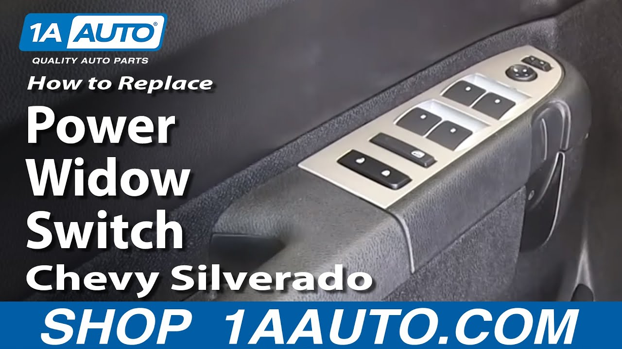 How To Replace Master Power Window Switch 07 13 Chevy