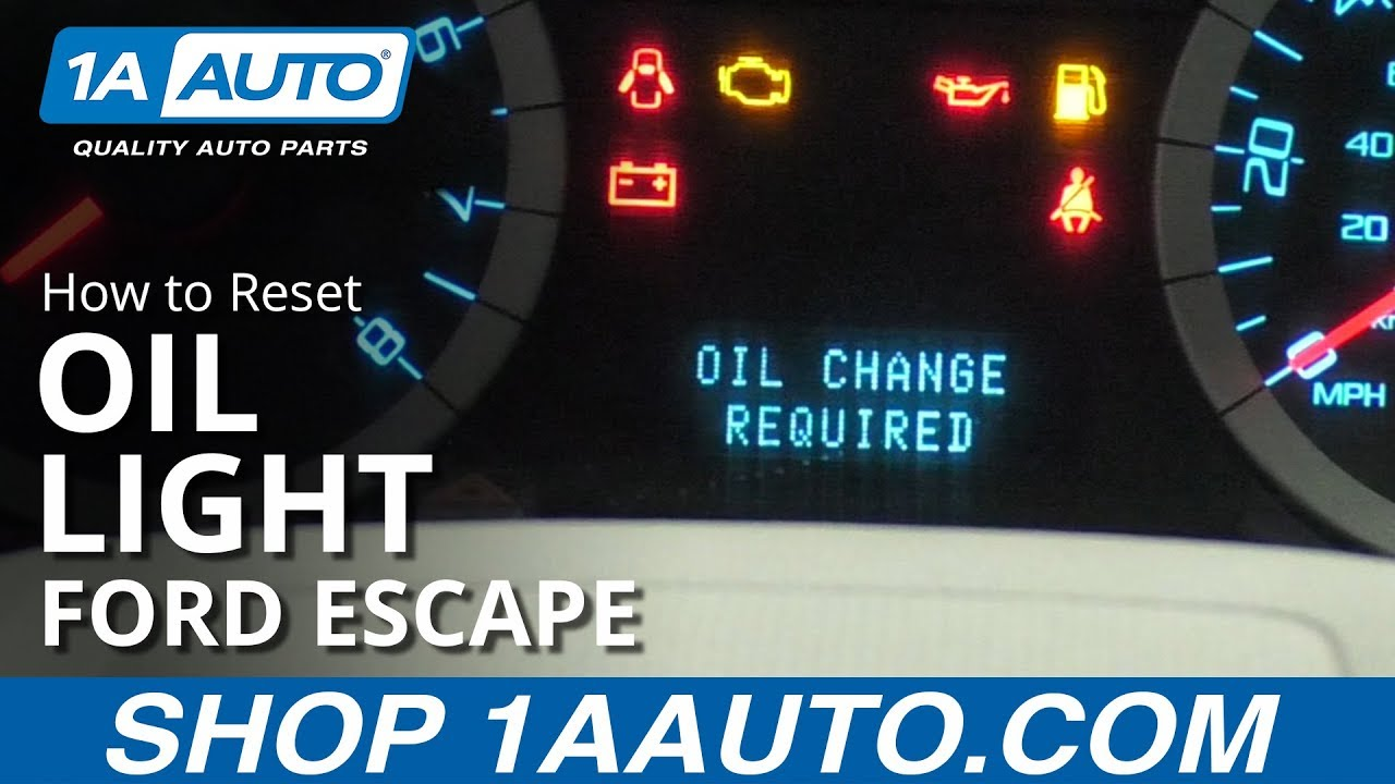 How to Reset Oil Light 08-12 Ford Escape
