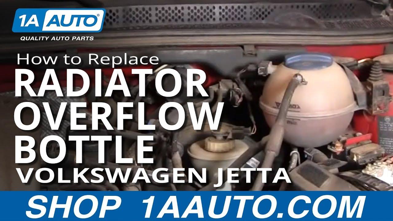 How to Replace Radiator Overflow Bottle 90-98 Volkswagen Jetta