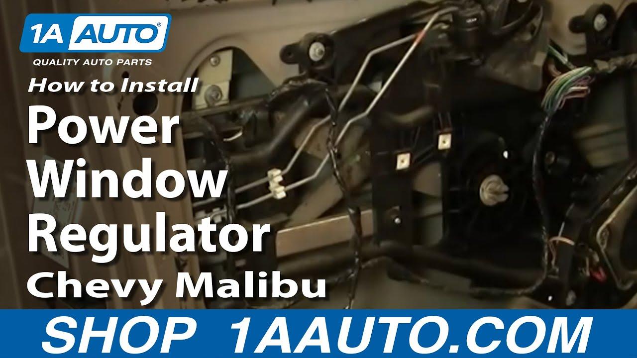How to Replace Window Regulator 97-03 Chevy Malibu