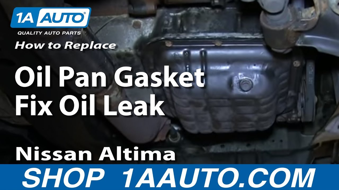 How To Replace Oil Pan Gasket Fix Oil Leak 98-01 Nissan Altima