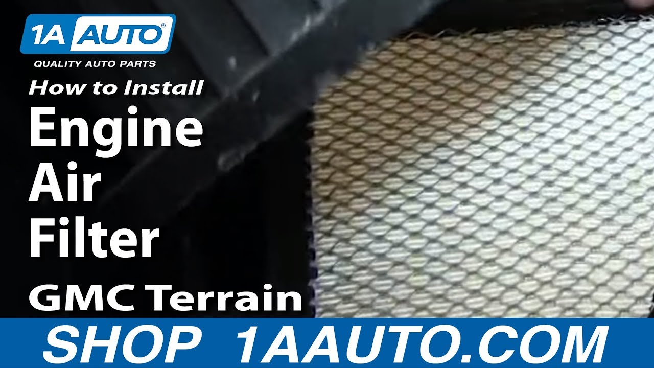 How To Replace Engine Air Filter 10-17 GMC Terrain