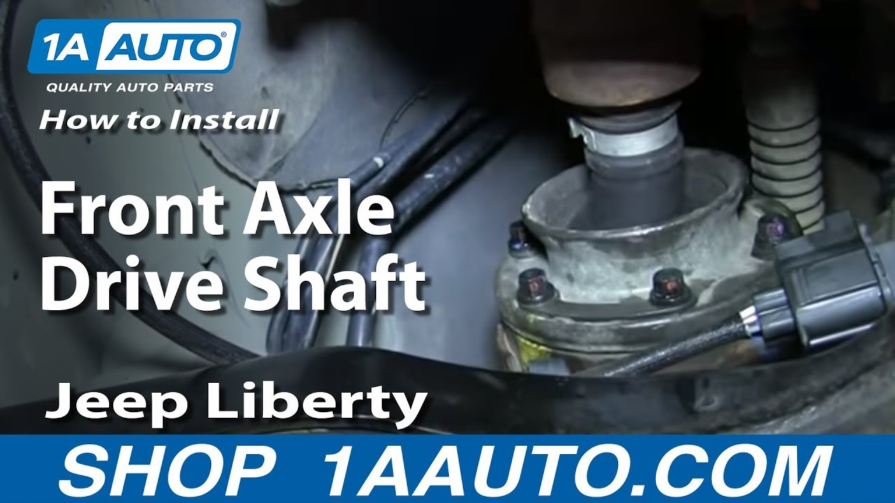 How To Replace Front Axle Drive Shaft 02-07 Jeep Liberty