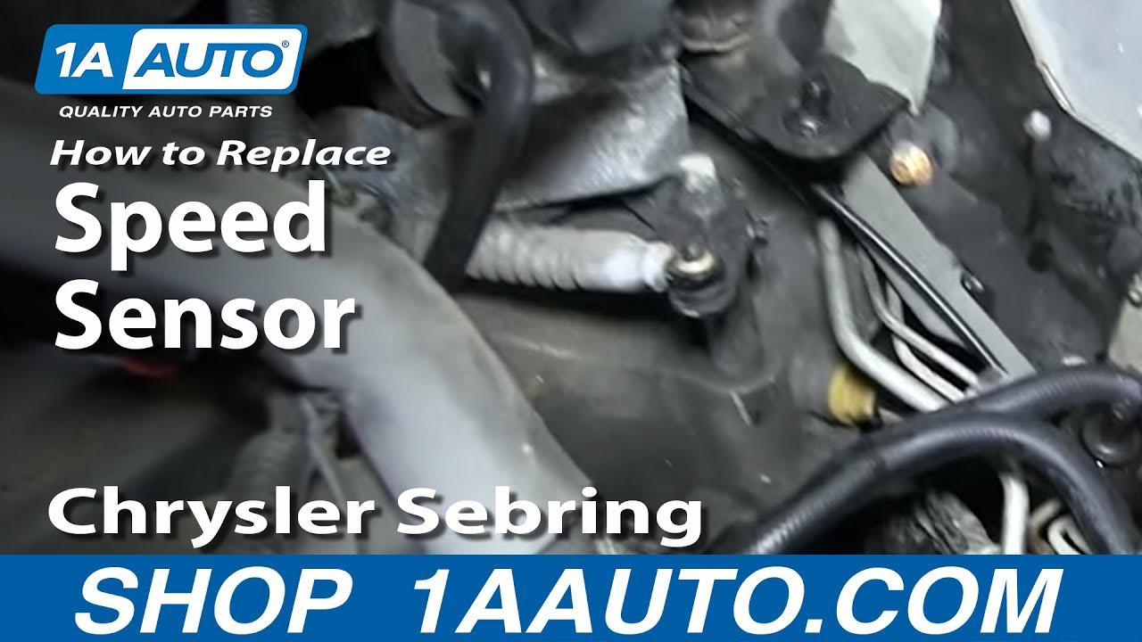 How to Replace Speed Sensor 95-10 Chrysler Sebring