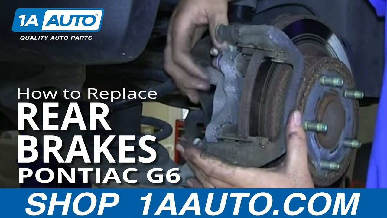 How to Replace Rear Brakes 05-10 Pontiac G6