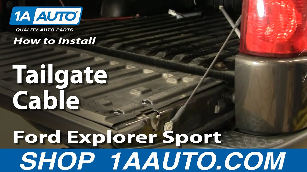 How to Replace Tailgate Cable 01-10 Ford Explorer Sport Trac