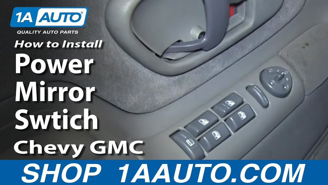 How to Replace Mirror Switch 95-99 Chevy Tahoe