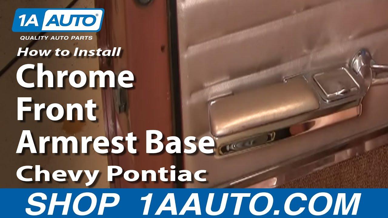 How to Replace Armrest Base 64-67 Pontiac Bonneville
