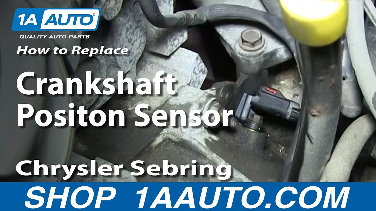 How to Replace Crankshaft Position Sensor 01-06 Chrysler Sebring 2 7L