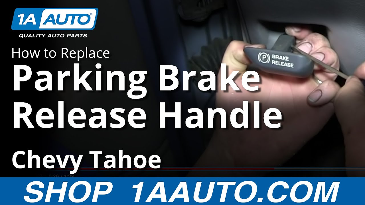 How to Replace Parking Brake Release Handle 95-00 Chevy Tahoe