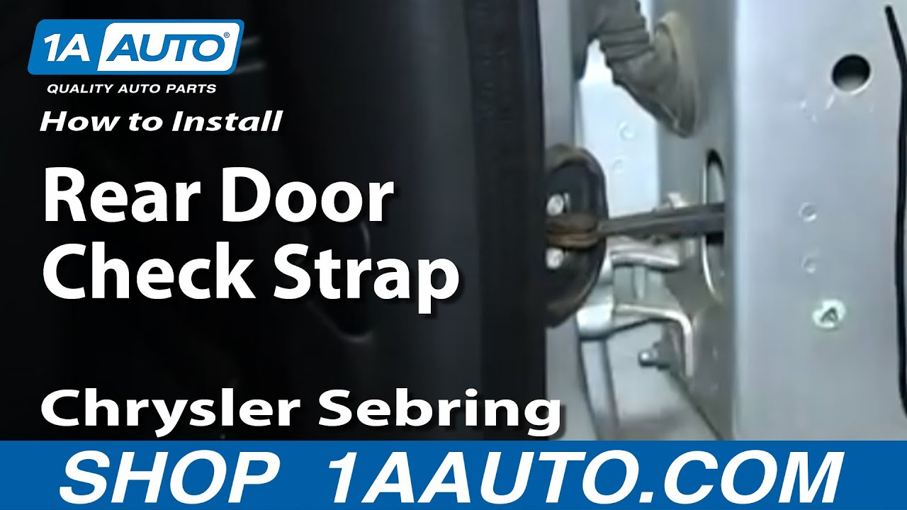 How to Replace Rear Door Check Strap 01-06 Chrysler Sebring