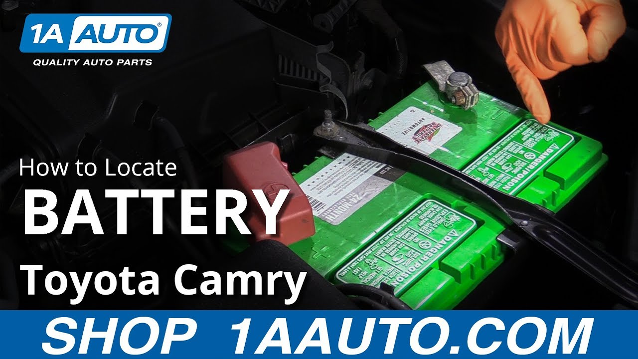 How to Locate Battery 11-17 Toyota Camry