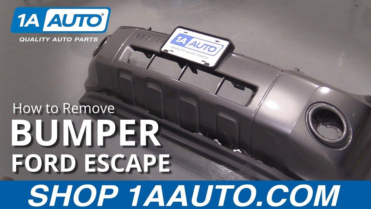 How to Remove Bumper 08-12 Ford Escape