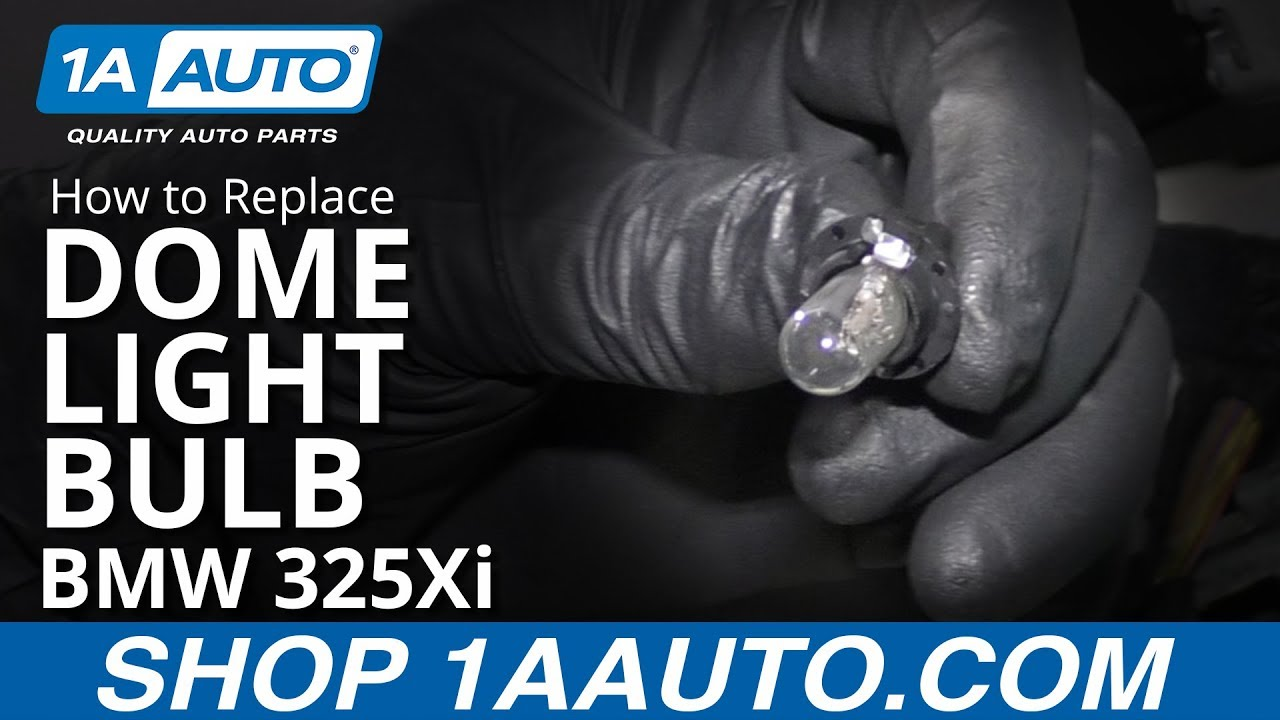 How to Replace Dome Light Bulb 97-06 BMW 325Xi