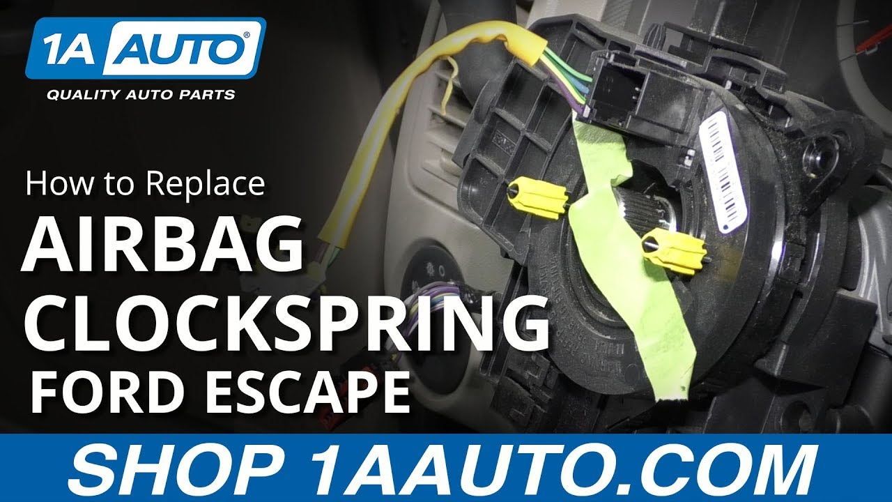 How to Replace Clockspring 08-12 Ford Escape