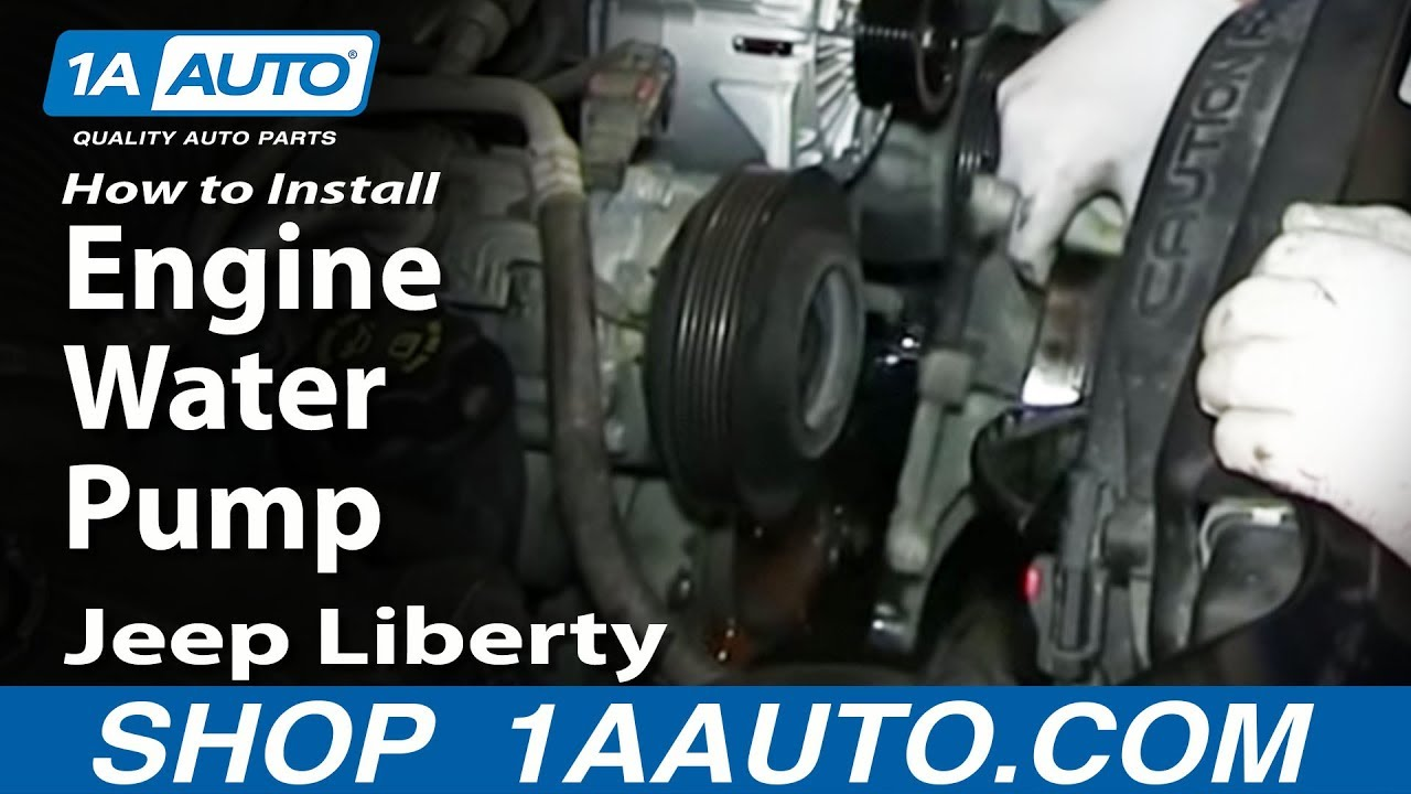How to Replace Engine Water Pump 02-13 Jeep Liberty