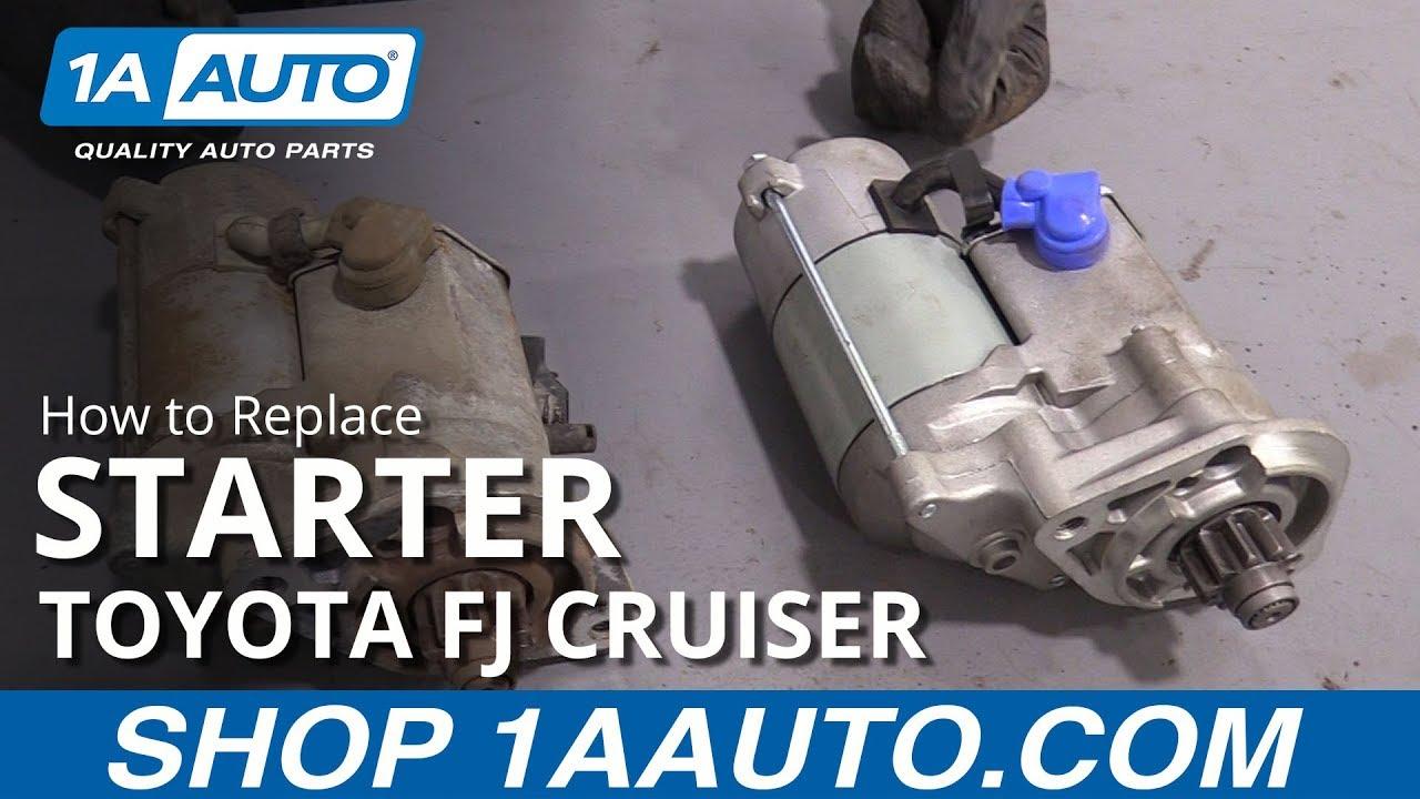 How to Replace Starter 07-09 Toyota FJ Cruiser