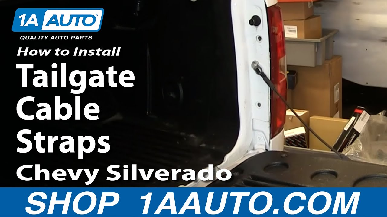 How To Install Replace Tailgate Cable Straps 2007-13 Chevy Silverado GMC Sierra