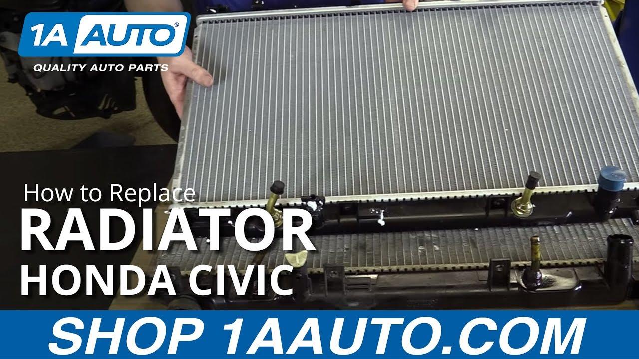 How to Replace Radiator 01-05 Honda Civic