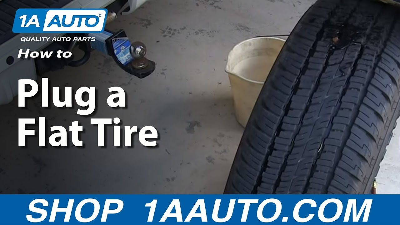 How To Plug a Flat Tire with a 1A Auto Tire Repair Kit