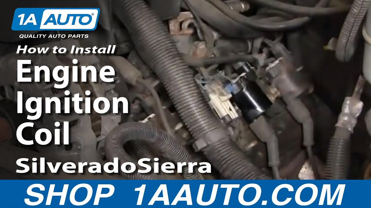 How to Replace Ignition Coil 99-04 GMC Sierra 2500 Chevy Liter Vortec Wiring Harness on