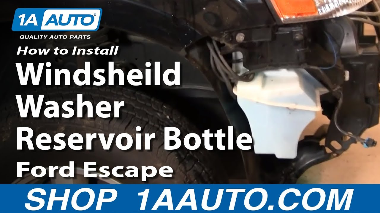 How to Replace Windshield Washer Reservoir 01-07 Ford Escape