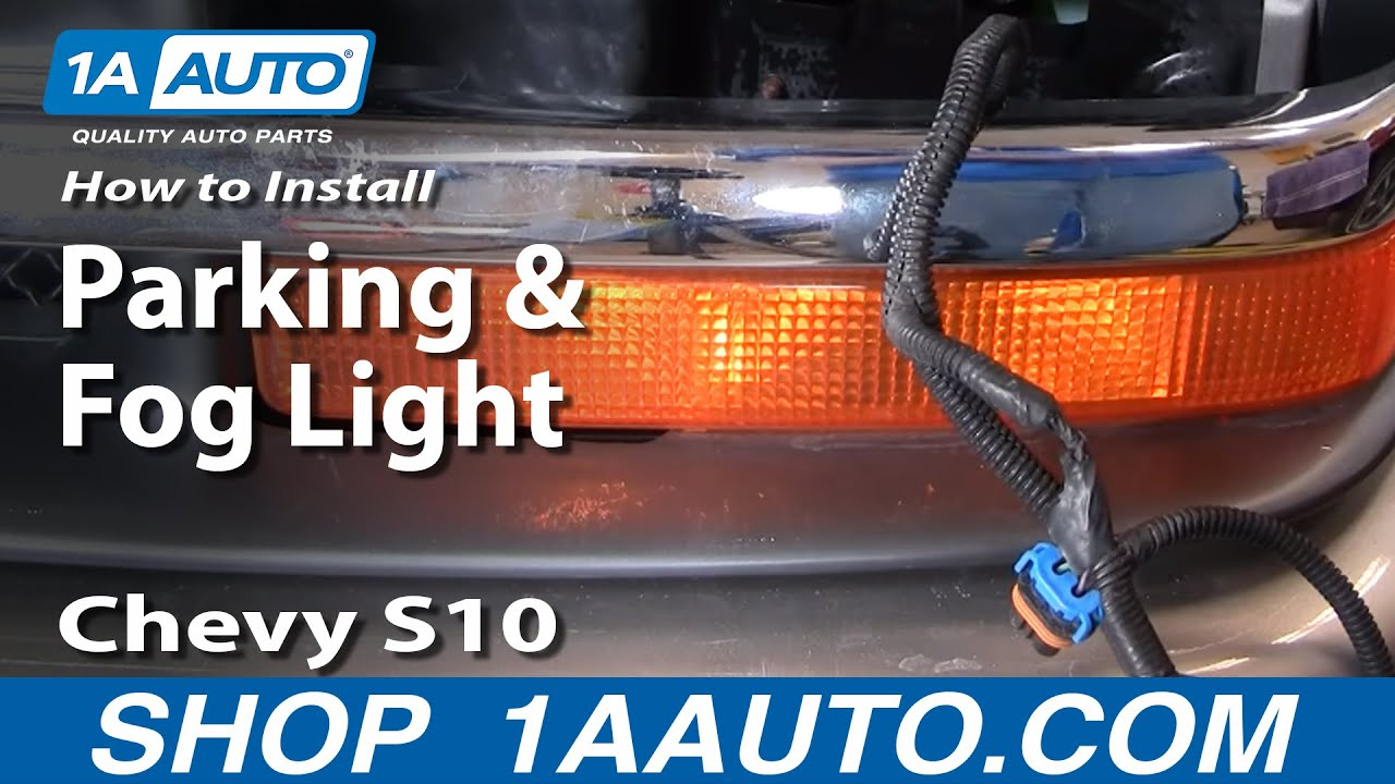 how to replace parking light 98 04 chevy s10 pickup 1a autoFog Lamp Installation Instructions For 1946 Chevrolet Part 4 #15