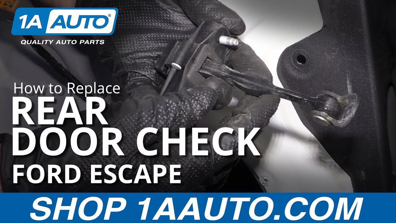 How to Replace Rear Door Check 08-12 Ford Escape