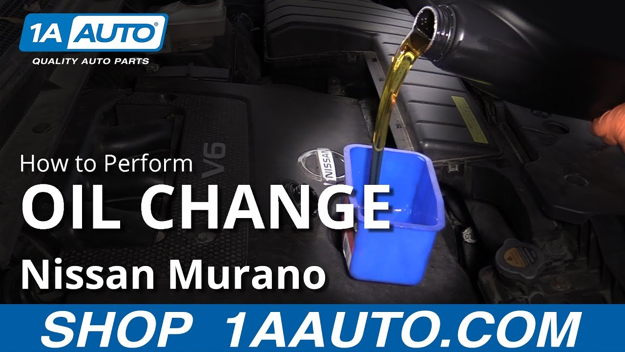 How to Perform Oil Change 09-14 Nissan Murano