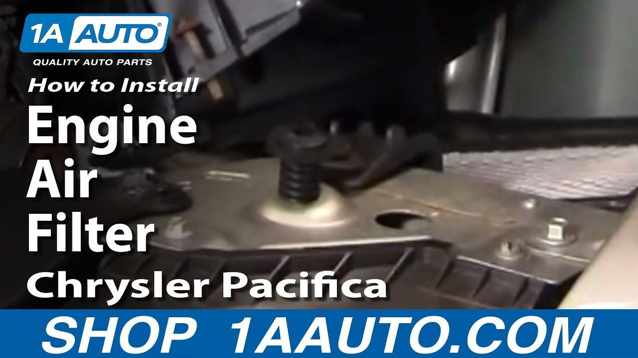How To Replace Engine Air Filter 04-08 Chrysler Pacifica
