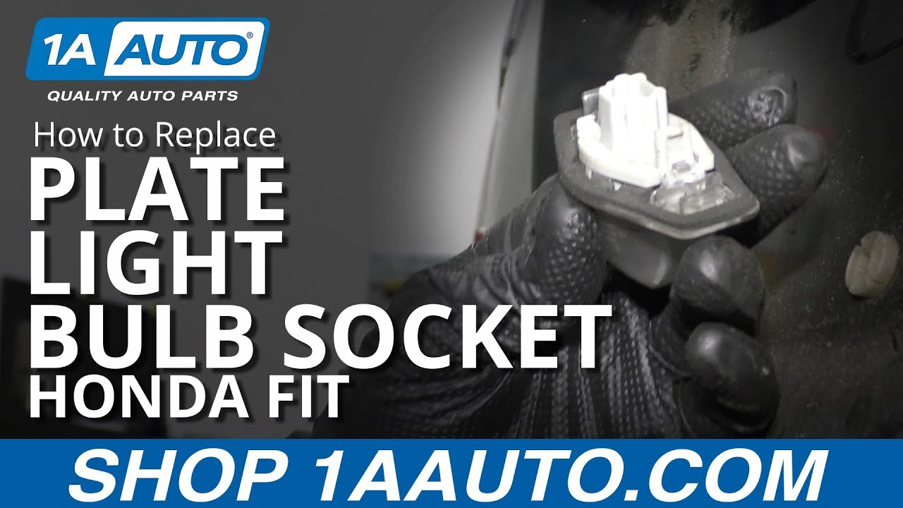 How to Replace Plate Light Bulb Socket 07-14 Honda Fit